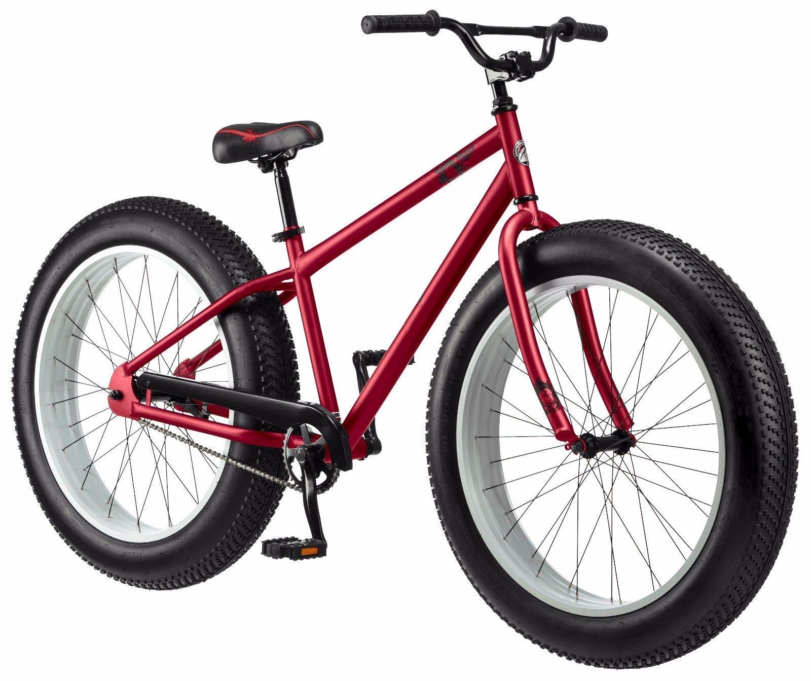 26 Mongoose Beast Men S Fat Tire Bike Red