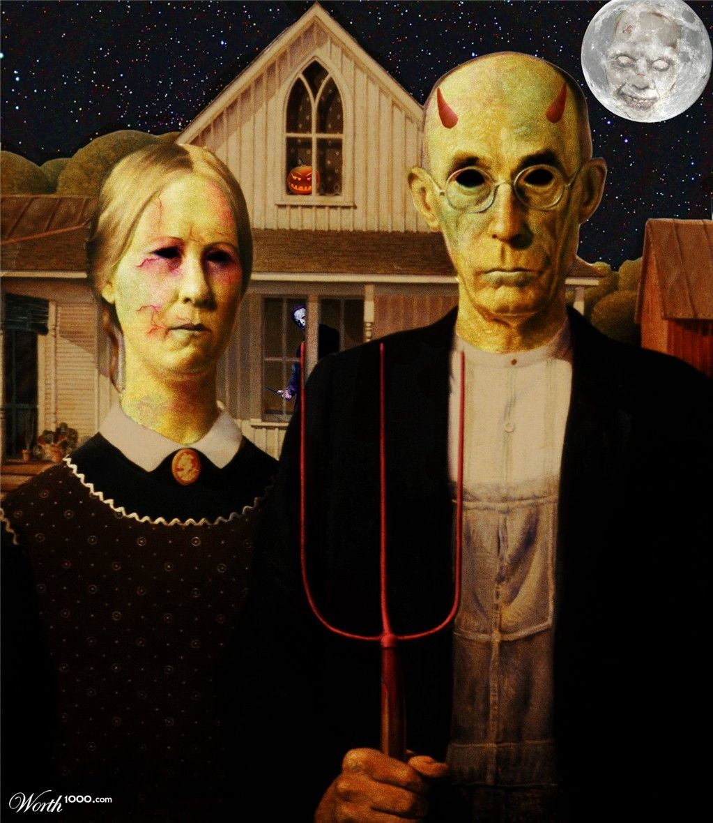 Halloween American Gothic 🐉More Pins Like This At