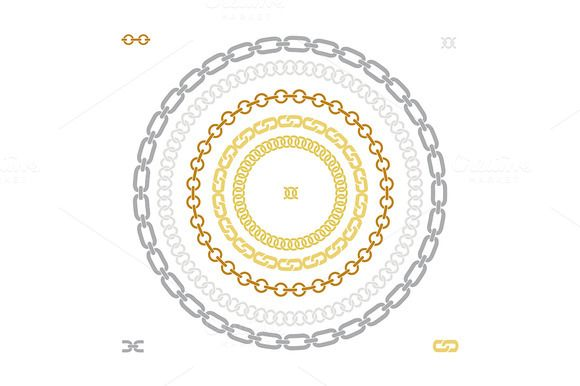 5 shapes chains brushes. Vector by icons factory on @creativemarket