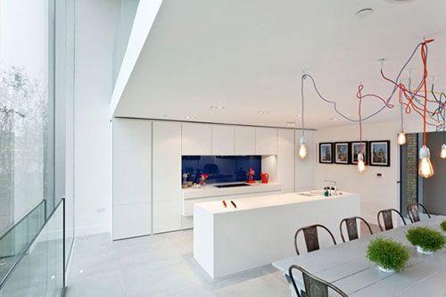 Witte Minimalistische Woonkeuken : Witte minimalistische woonkeuken project k keuken