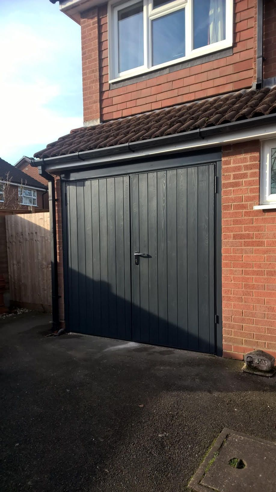 GRP Side Hinged Garage Door | Side Hinged Garage Doors | Pinterest ...