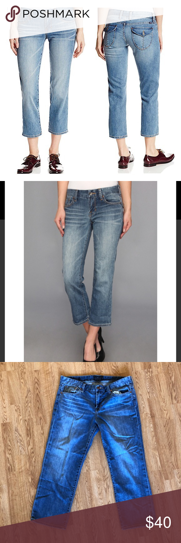 2a46e37867b3d Lucky Brand Sweet Jean Cropped Capris Sweeten your look with Lucky Brand®  denim. Mid-rise jean sports an easy fit through the seat and thigh and a  cropped
