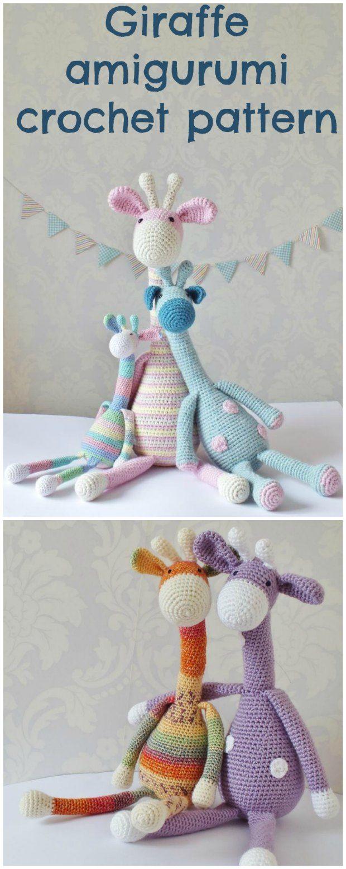 Crochet Giraffe Super Cute Amigurumi Pattern   Ardilla, Jirafa y Adornos