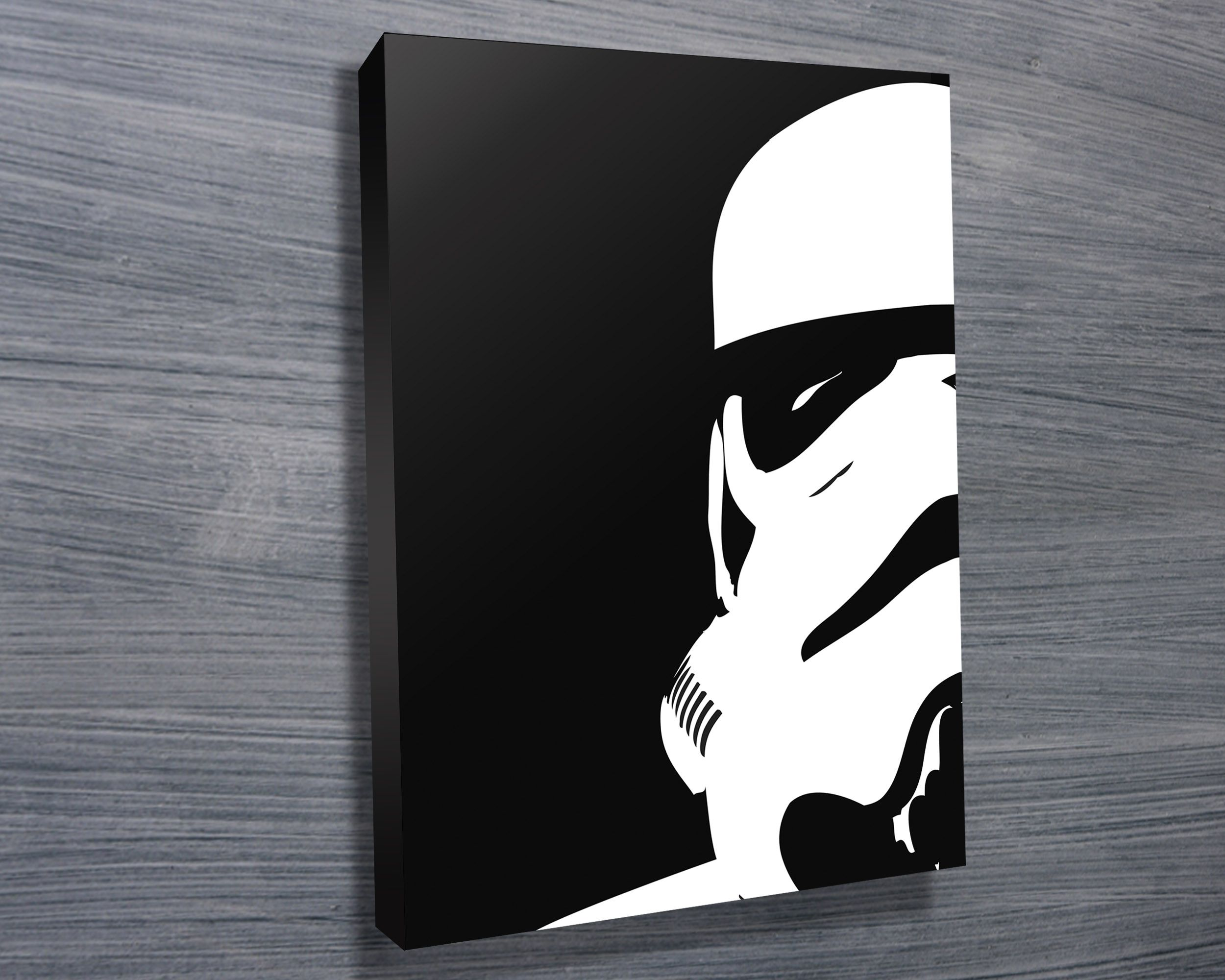 Star Wars pop art canvas print featuring a stormtrooper, this great looking  pop art would