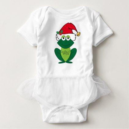 Cute christmas frog baby bodysuit kids kid child gift idea diy cute christmas frog baby bodysuit kids kid child gift idea diy personalize design negle Images