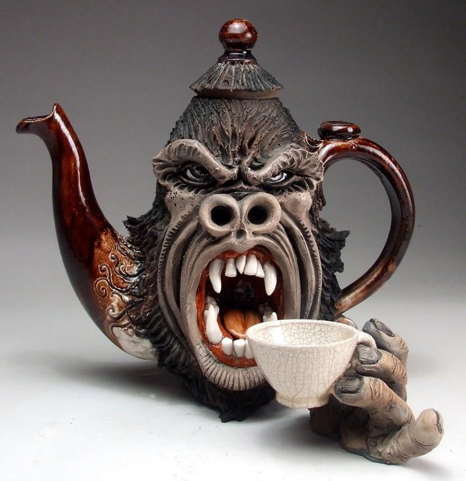 Angry Gorilla Teapot By Mitchell Grafton Warning Do Not Let