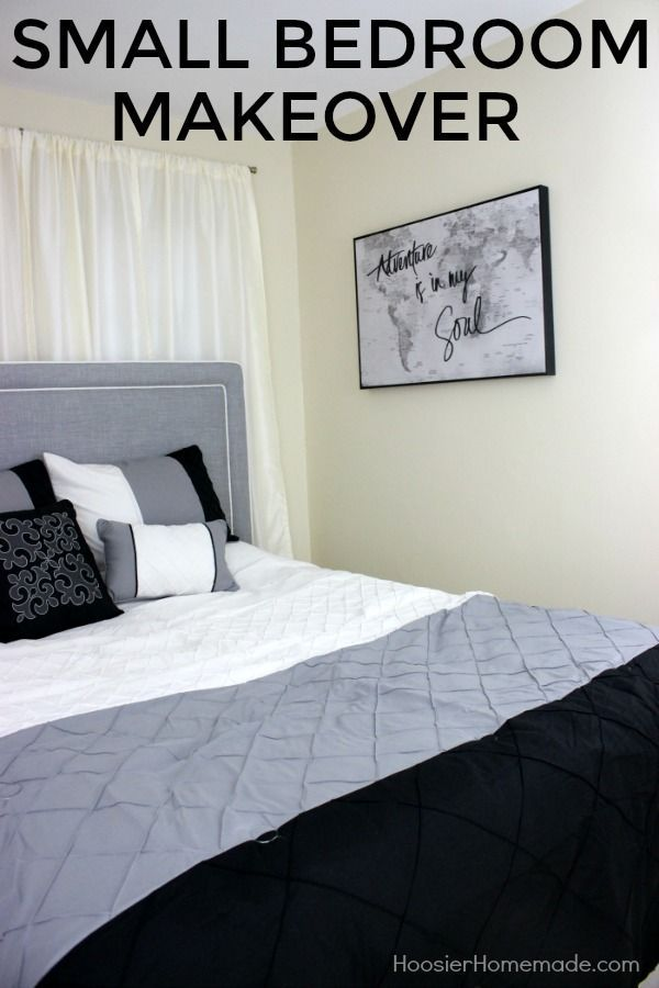 SMALL BEDROOM MAKEOVER -- Transform your small bedroom with just a few  simple steps! #ad