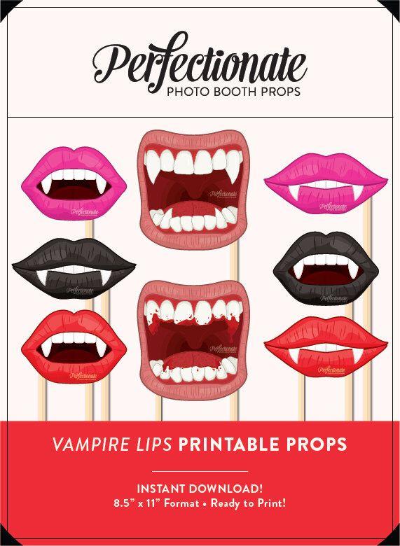 Vampire Fangs Props 8 Full Size Printable Props Diy Halloween