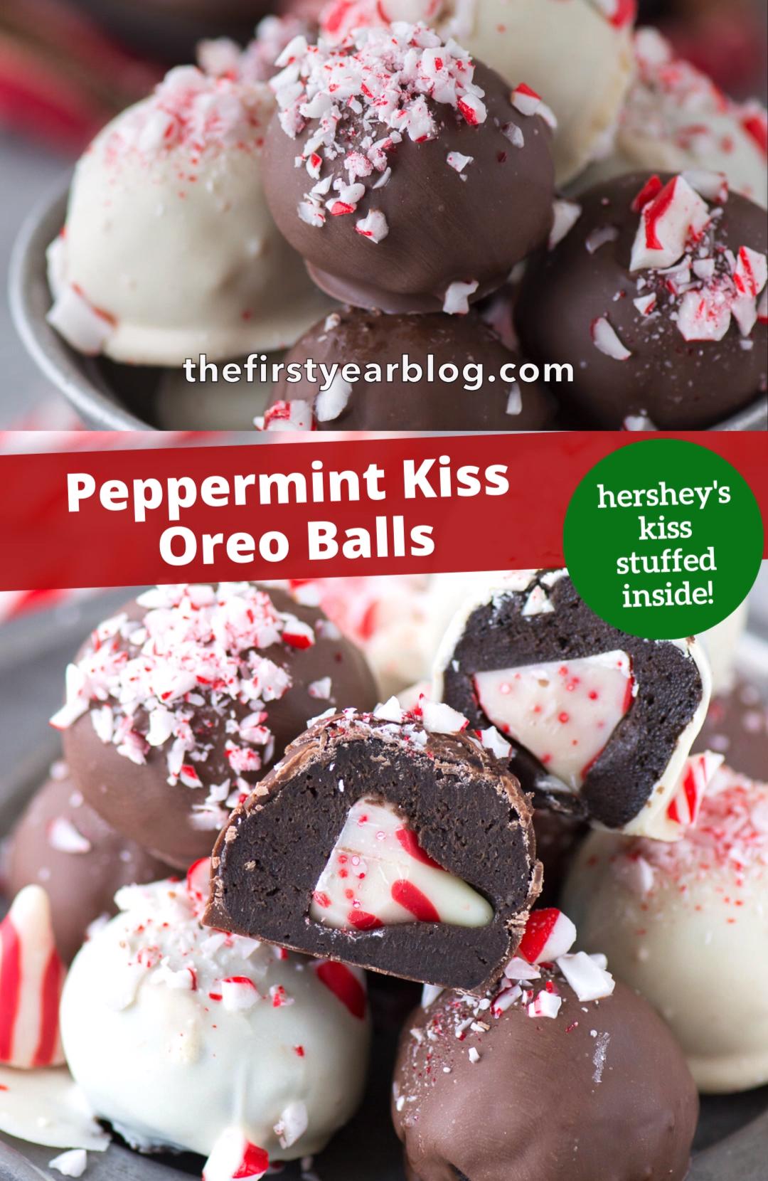 Peppermint Kiss Oreo Balls
