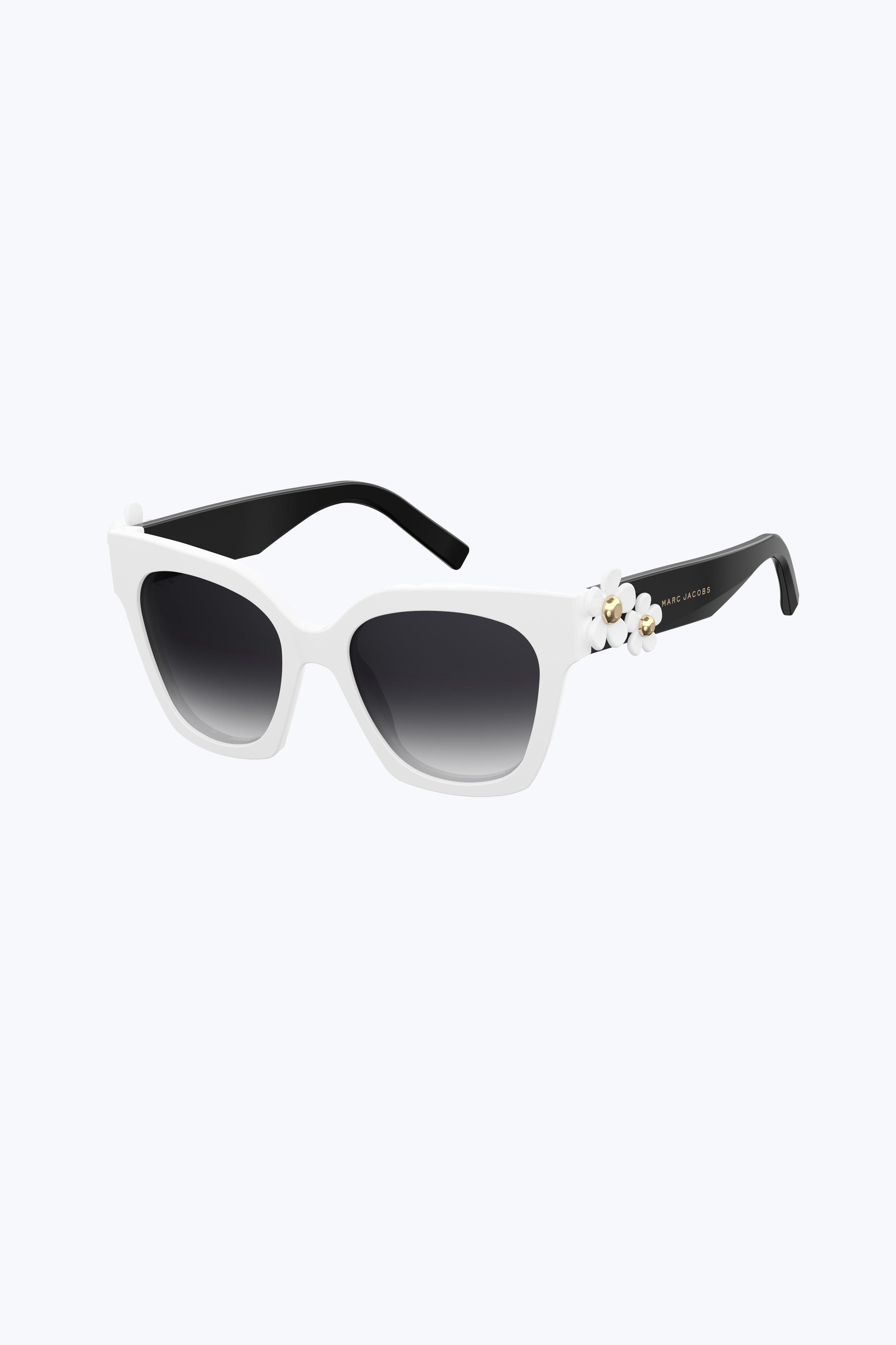 8fc049a203 Marc Jacobs Daisy Square Sunglasses - White Dark Grey 1Sz