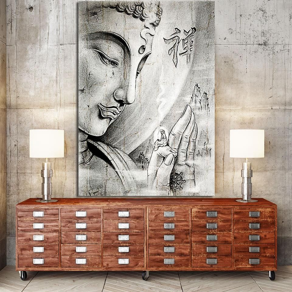 HD printed 1 Piece Canvas Art Buddha painting Posters and Prints ...