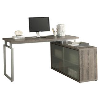 Monarch Specialties Inc. Computer Desk - Finish: Dark Taupe