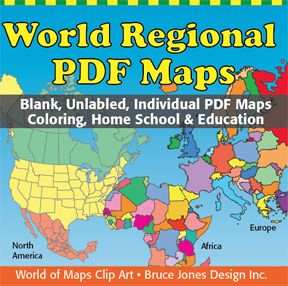 World Regional Pdf Maps Individual Printable Blank Unlabeled Pdf Map Collection