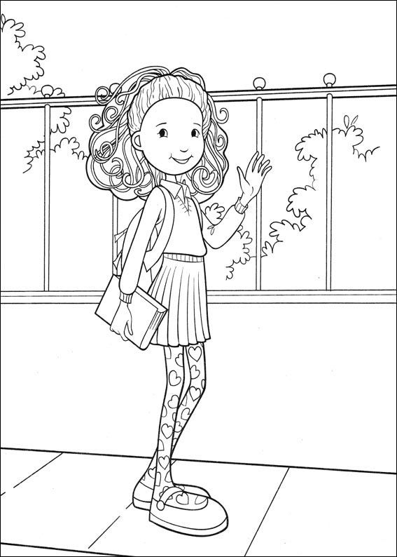 Groovy Girls Coloring Pages 36   Coloring pages for kids   Pinterest