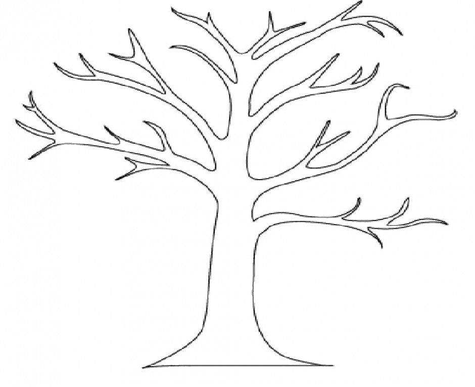 Leaf Coloring Pages For Kids Leaf Six Simple Leafs Easy Coloring Tree Coloring Page Tree Outline Leaf Coloring Page