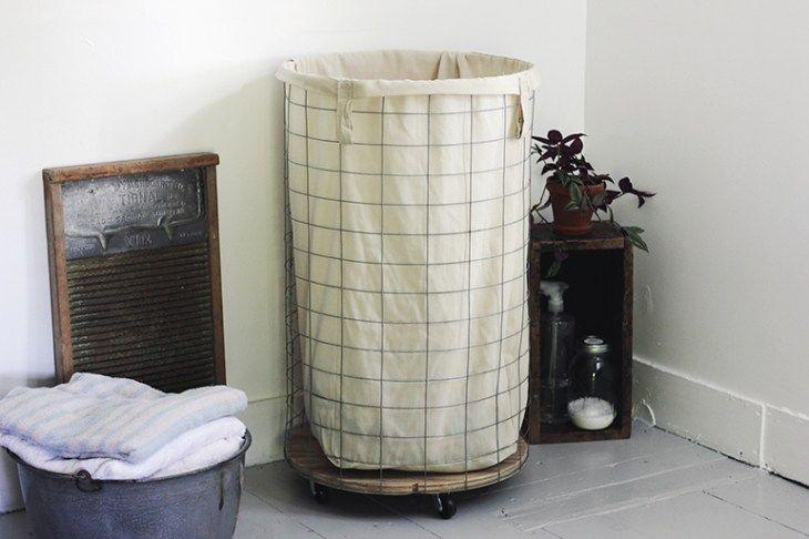 farmhouse wire laundry hamper