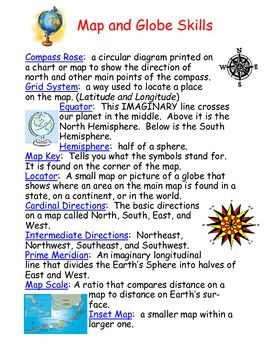 Maps and The Globe Worksheets - Mamas Learning Corner