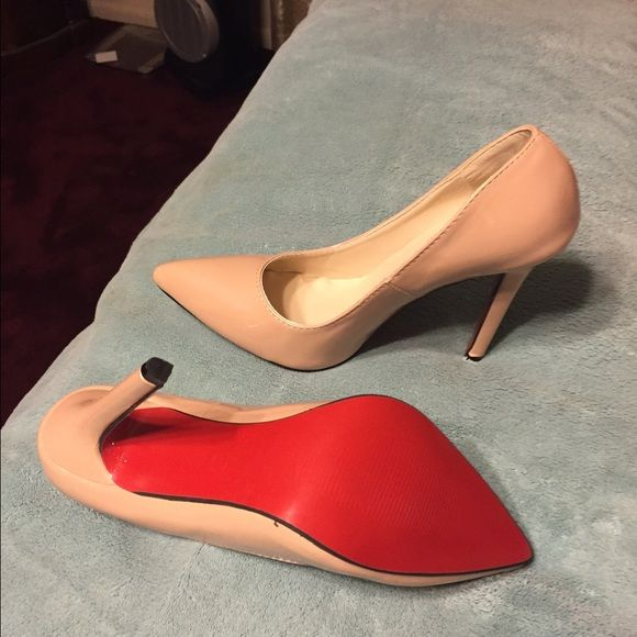 37424334271 Fake red bottoms New never used the heels are high and I m not wearing heels  anymore Shoes Heels