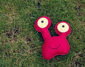 Oli - Magenta Felt Monster Soft Toy