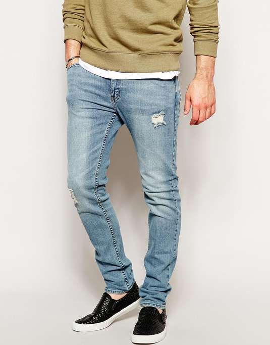 Cheap Monday Tight Skinny Jeans in Real Blue | Shoes | Pinterest ...