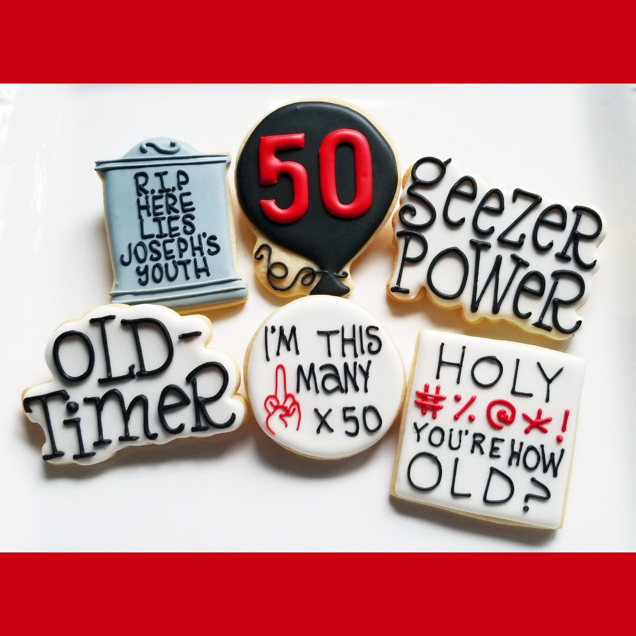 1eec8bf36ce0f 1 DOZEN - Over the Hill Custom Cookies Decorated Old Man Old Timer ...