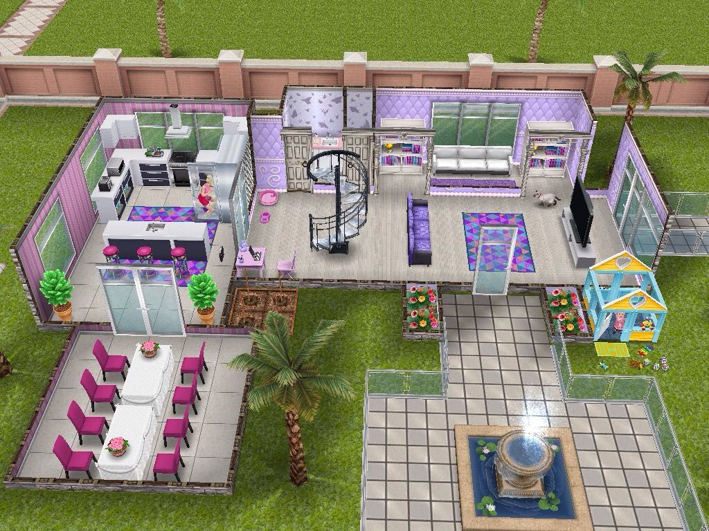 House 49 Barbies Dream House (ground level) #sims #