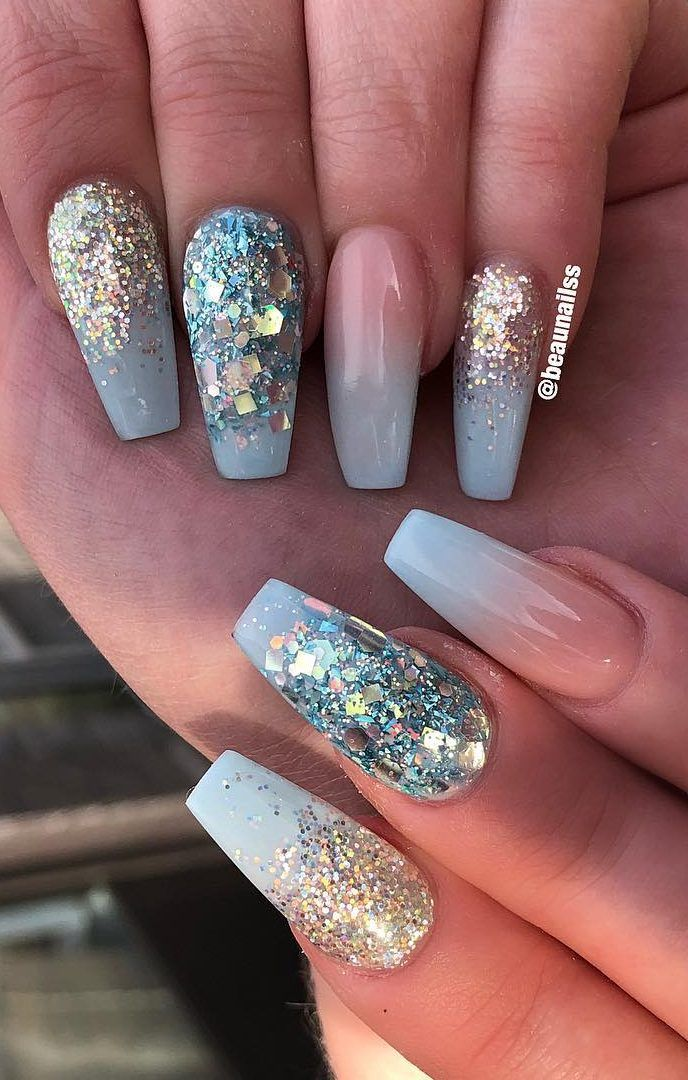 24 Cute And Awesome Acrylic Nails Design Ideas For 2019 Part 3 Unghie Natalizie Unghie Idee
