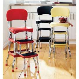 The Step Stool Chair My Grandmother Had The Red One. I Sat On It At The End  Of The Cabinet And Watched Her Make Pies. One Of My Favorite Memories Ever!