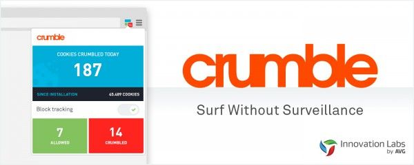 AVG introduces Crumble for Chrome, claims you can surf without