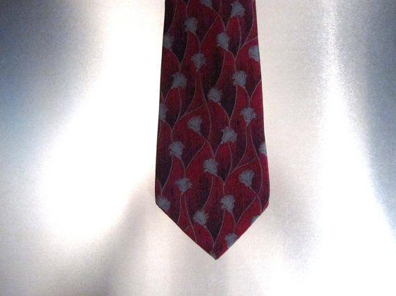 Vintage Deco Skinny Necktie by bobbysBoutique on Etsy, $15.00