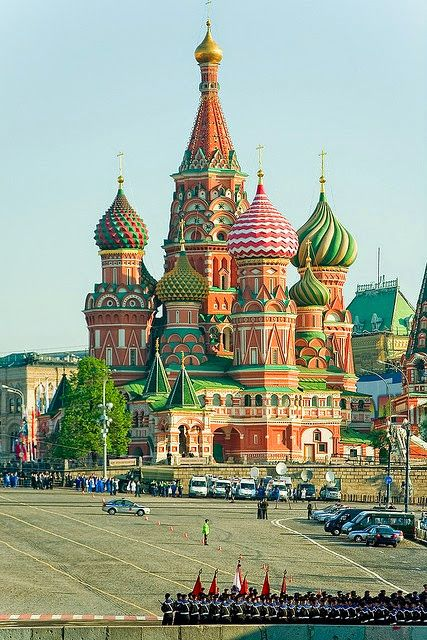 Saint Basil Cathedral Moscow Russia Catedral De San Basilio Moscu Rusia Red Square Plaza Roja Sobor Vasiliya B Russia Places To Go Places To Travel