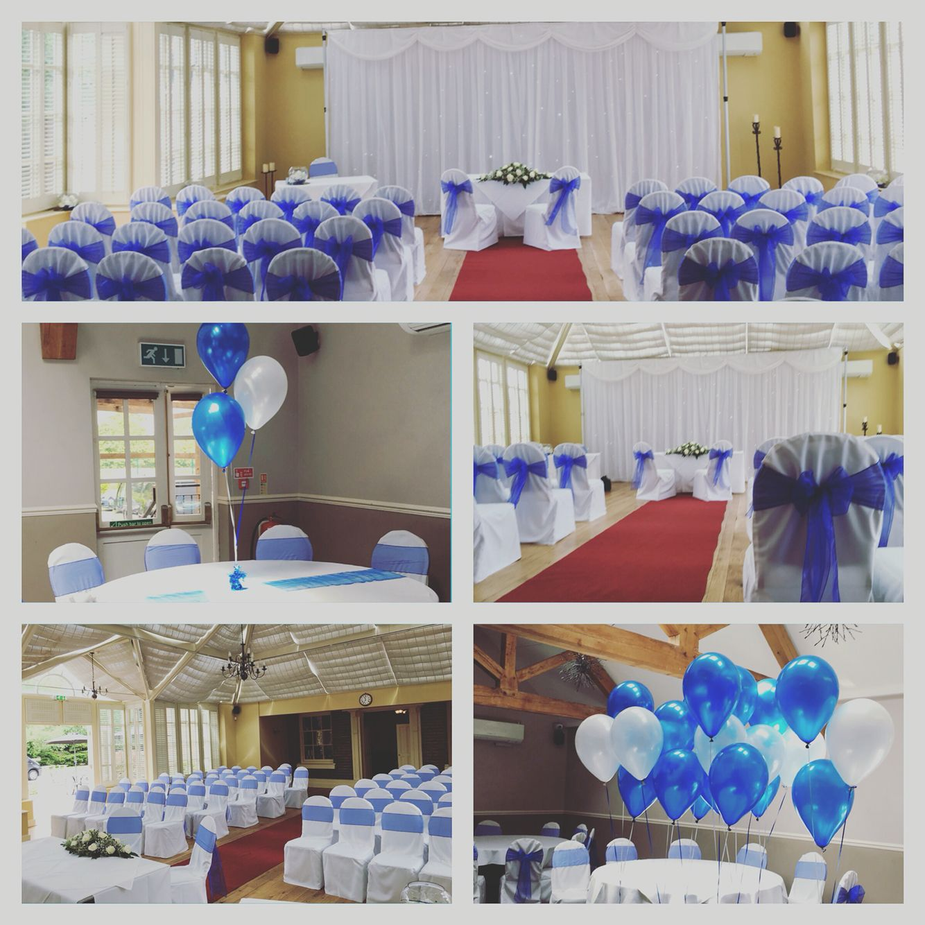 Chair Covers Telford Armchairs Accent Chairs Royal Blue Organza Sashes By Timeless Cover Hire At Hadley Park Hotel