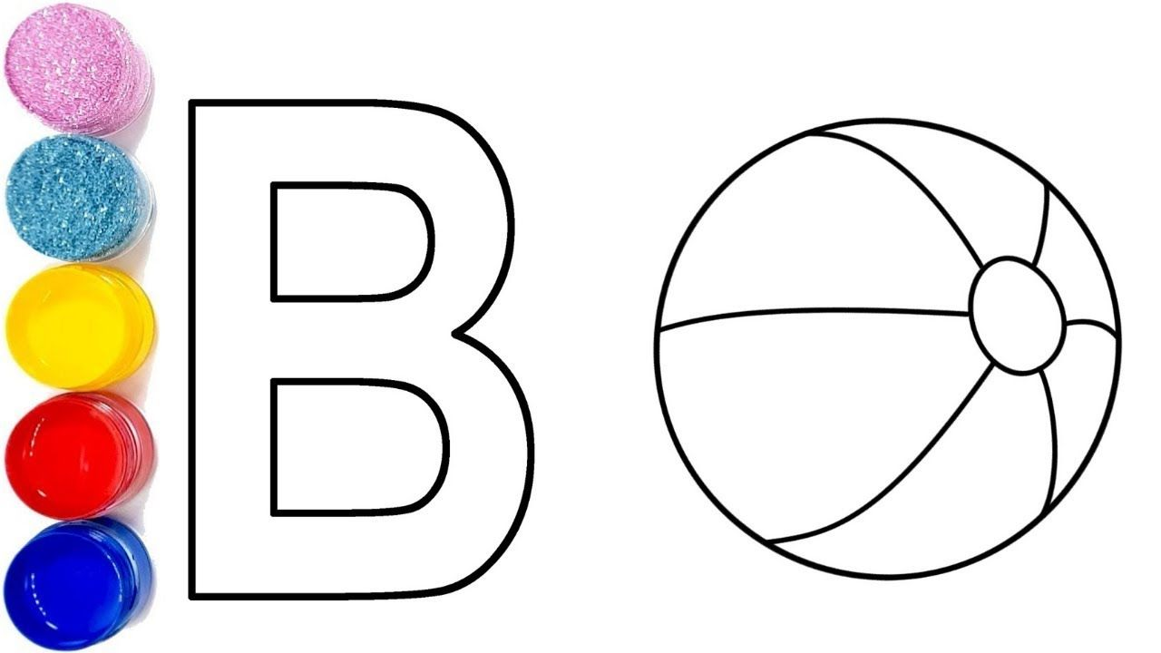 B For Ball Ball Coloring Pages How To Draw Ball Football Coloring Kids Ba Football Coloring Pages Coloring Pages For Teenagers Crayola Coloring Pages