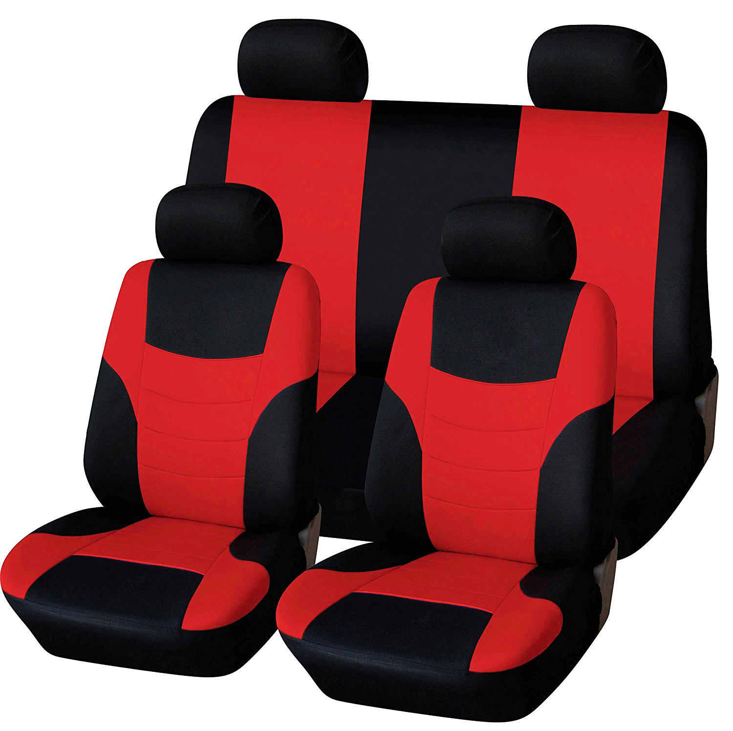 8Pcs Polyester Fabric Car Full Seat Cover Cushion