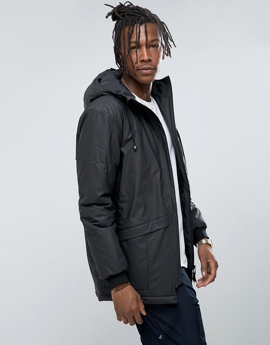Get this Rains's parka now! Click for more details. Worldwide shipping. Rains Waterproof N-3 Thermal Parka in Black - Black: Parka by Rains, Waterproof fabric, Thermal lining with internal pocket, Drawstring hood, Zip fastening, Drawstring hem, Functional pockets, Regular fit - true to size, Hand wash, 50% Polyethylene, 50% Polyurethane, Our model wears a size Medium and is 189cm/6'2.5 tall. Rains have been defying Danish weather - that�s an average of 121 rain days a year - since 2011…