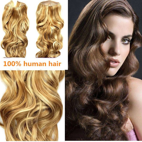 Invisible Wire Remy Hair Wavy Hair Extension Secret Wirehair