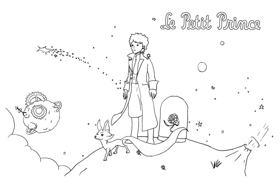 To print «coloriage-le-petit-prince-5», click on the printer icon at ...