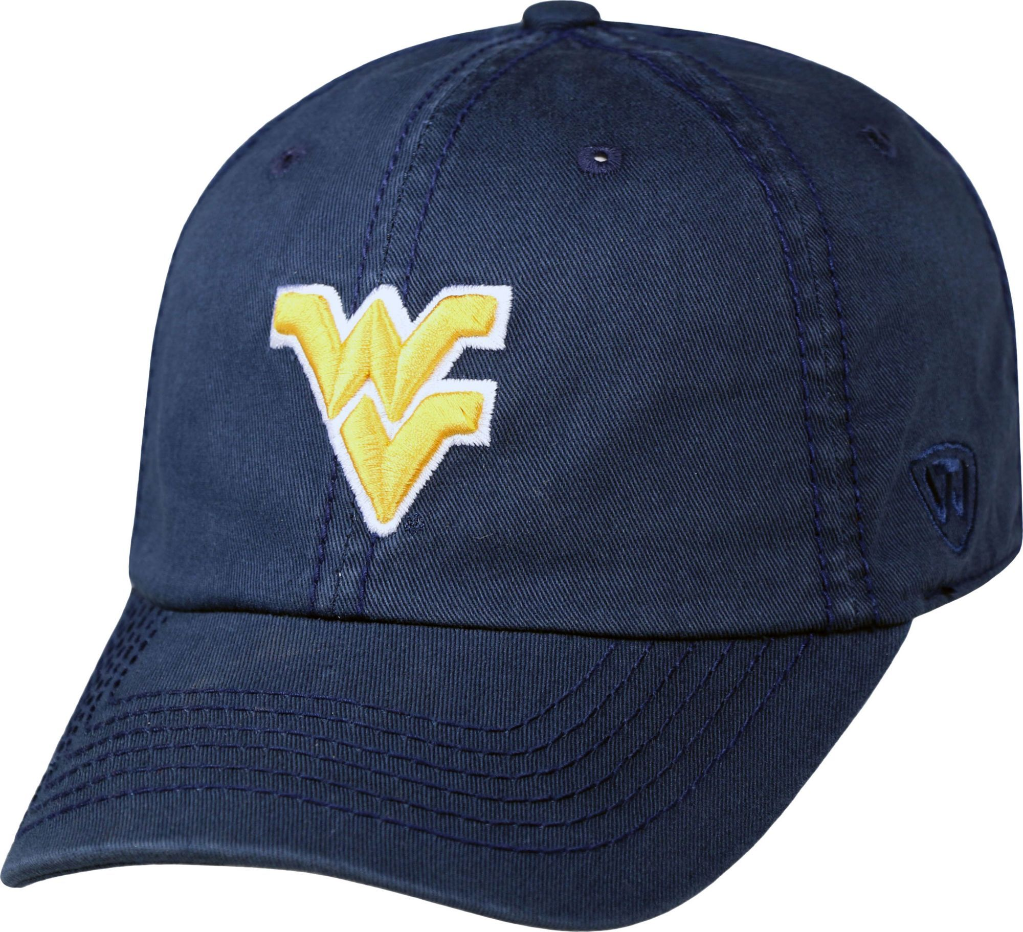 competitive price 99553 7e50f Top of the World Men s West Virginia Mountaineers Blue Crew Adjustable Hat,  Team