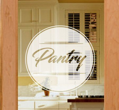 Pantry door decal frosted glass decals etched vinyl decal frosted pantry door decals custom door decals kitchen door decals