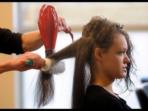 Como planchar el cabello corto con secadora