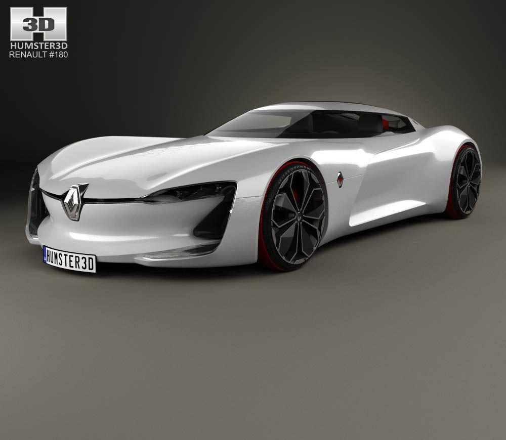 3d Model Of Renault Trezor 2016 3d Model Concept Car Design Renault
