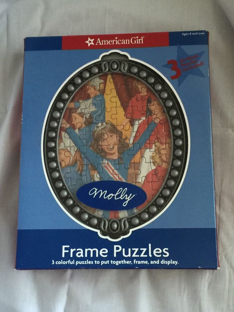 American Girl Doll Molly 3 50 Piece Puzzles Frame #AmericanGirl