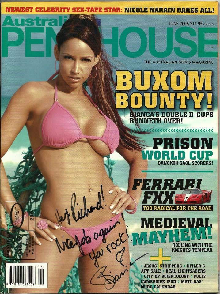 Beauchamp bianca in magazine penthouse