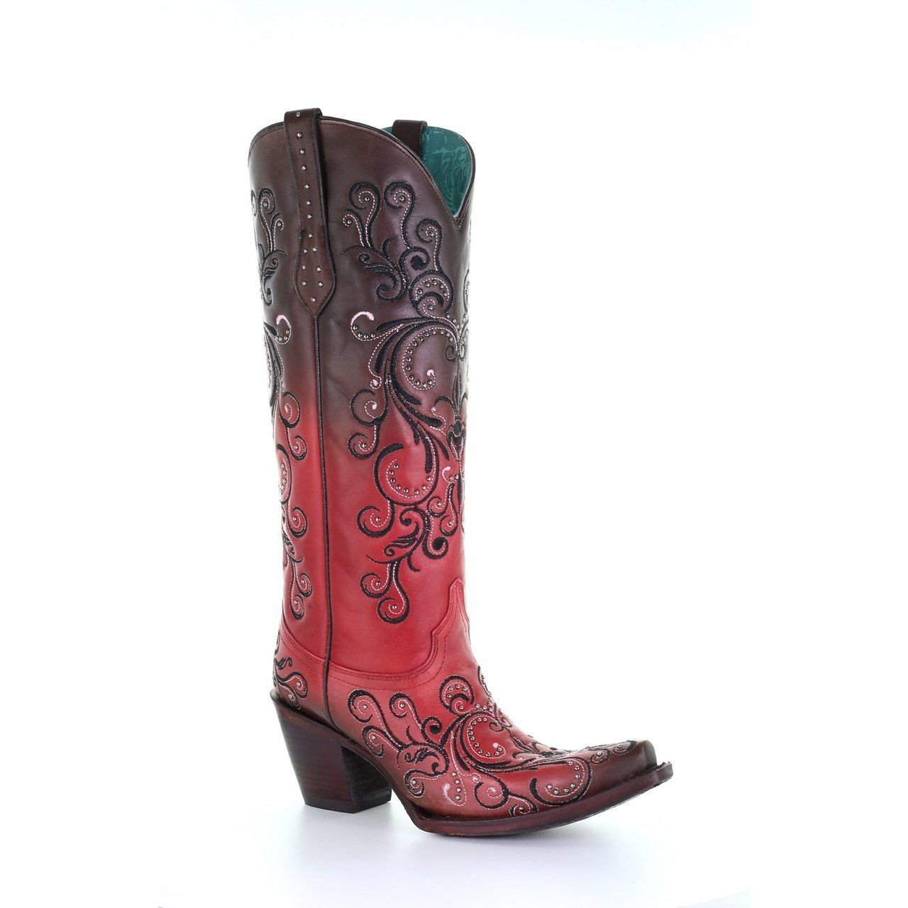 Women S Corral Western Boots Wine Handcrafted In 2020 Boots Womens Cowgirl Boots Western Boots