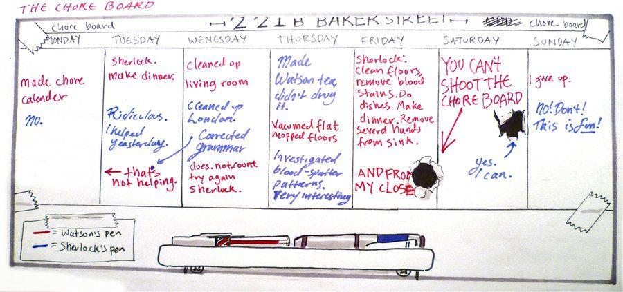 BBC Sherlock comic: The Chore Board