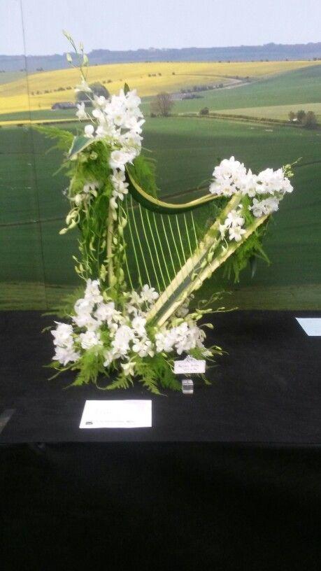 Made by. Maria Elena Smith. Malvern RHS sprig festival 2015. Floral art NAFAS
