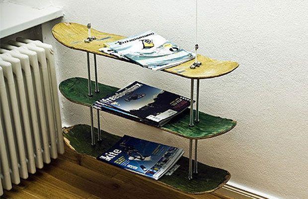 Lieblich DIY Skate Deck Magazine Rack. RegaleKinderzimmerGaragenSkateboard ...