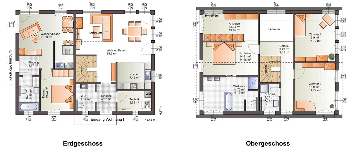 hausplan mit einliegerwohnung hausbau pinterest haus haus bauen und haus. Black Bedroom Furniture Sets. Home Design Ideas