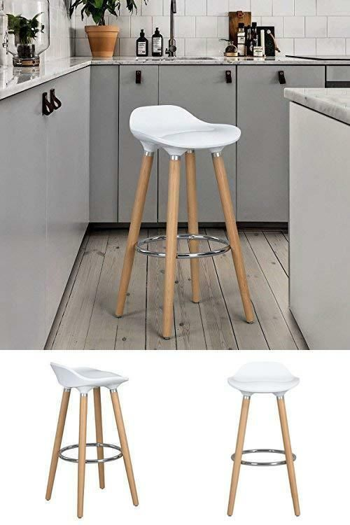 Groovy Kitchen Bar Stools Pair Footrest Counter Island Seat Modern Andrewgaddart Wooden Chair Designs For Living Room Andrewgaddartcom