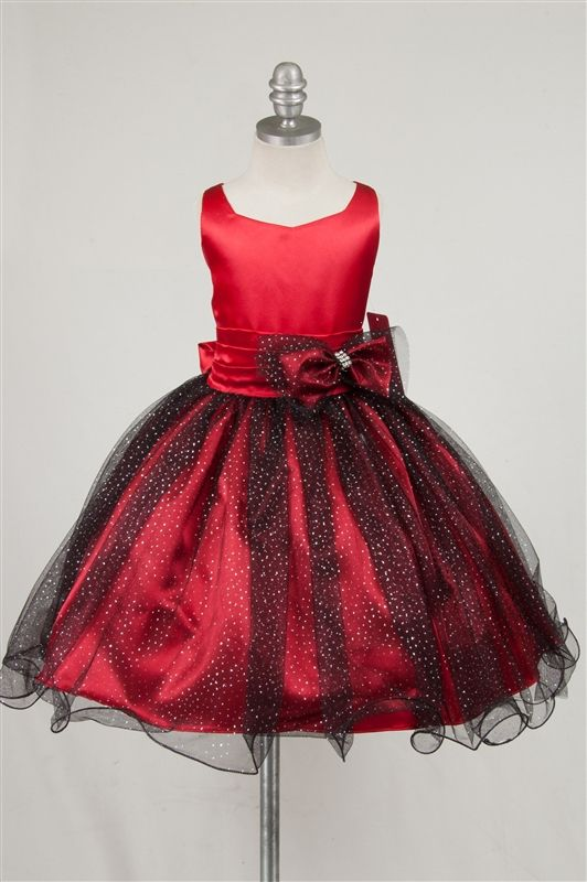 RED flower girl dresses | Red Star Spangle Flower Girl party Dress